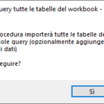 Connetti a Power Query tutte le tabelle del workbook