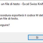 Esporta il codice M in un file di testo